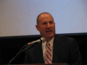 Penn Manor staff member, Pat, addresses 2010 staff