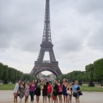 Penn Manor students at Eiffel Tower
