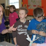Martic TSA student talks to elementary students