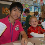 ELL student with an Eshleman Elemen student celebrated the Chinese New Year