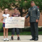 Presenting Millersville VFW with check