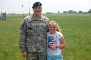 Sargent Mays and his daughter