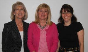 Johnna Friedman (right), Pamela Price and Donna Wert (left)