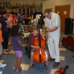 test driving the cello