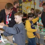 Millersville University students work with 5th grade classes at Conestoga Elementary