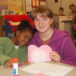 Mr. Berry's kindergarten classes at Letort Elementary partnered with their fifth grade buddies to make valentines