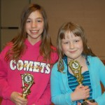 Eshleman fifth grade student Lisa Schaefer and Central Manor fifth grade student Morgan Huber