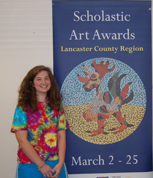 Penn Manor High School junior Kristen Longsderff created a ceramic piece featuring a rooster