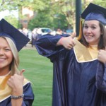 Graduates give the thumbs up
