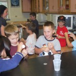 Students in the Mad Scientists course made slime out of borox