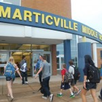 Mr. Rich Eby, principal at Marticville Middle School, welcomes seventh and eighth grade students.