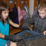 Conestoga 2nd Grade Students Help with Garden Composting