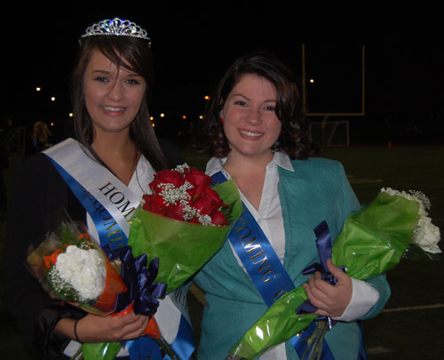 Melanie Rupp (left) was crowned the 2012 homecoming queen and Katie Irwin (right) was named first runner-up