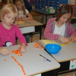 in Ms. Urban's classroom, students used candy corn as a measuring device