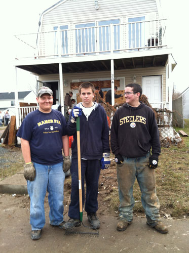 FFA members pictured from left senior Scott Appel, sophomore Justin Burke and freshman Austin McMellen
