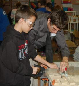 Conestoga 5th graders on building Jamestown Lanterns