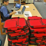 Alex Lagunas and laptop bags