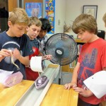 Lessons utilize everyday materials, such as Legos, empty drink containers, meat trays, straws, rubber bands and paper clips that students use to build and test simple machines such as airplanes, rainwater harvesters and birdhouses.