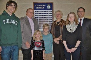 PMEF board president Thomas Seiger gathered with the Foundation's Ambassadors, Willis and Martha Herr, to dedicate the plaque. They were joined by four students who have benefitted from Foundation-funded programs at their schools – Mackenzi and Isiac Nafziger of Eshleman Elementary School and Chloe Vassot and Nate Rosenberg of Penn Manor High School.