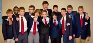 In the photo are members of the Manor Middle School TSA front row, from left, Josh Adams, Ray Gerner, Max Minnick, Kevin Ward, Matt Schaefer, and Luke Frey; back row, from left, Jared Stephan, Jay McFadden, Aiden McFall, Zach Schucker, Jonathan Flatley and Simon Shoelkopf.