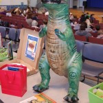 Inflatable T-Rex for auction
