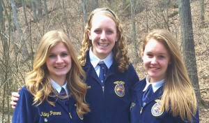 Pictured, from left, are Kaley Pannone, Victoria Herr and Kayla Major.