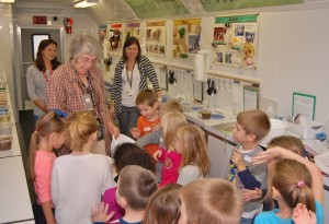 Ag educator Ruth Smith in the Mobile Ag Education Science Lab.