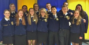 2015-2016 Manor FFA officers