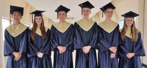 Graduation speakers for Penn Manor's June 2 commencement are, from left, Alan Dang, Hailey Kresge, Craig Jahnke, Andrew Mintzer, Sarah Beth Ranck and Hannah Willig.