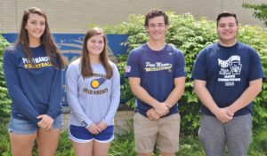 From left, Morgan Edwards, Emily Robb, Collin Whiteside, Zach Bowers.