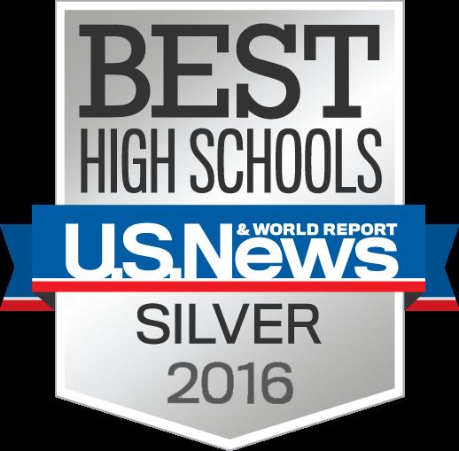 Best High Schools U.S. News & World Report Silver 2016 award