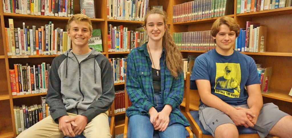From left, Nicholas Fafel, Emma Spearing and Vinny Vozzella.