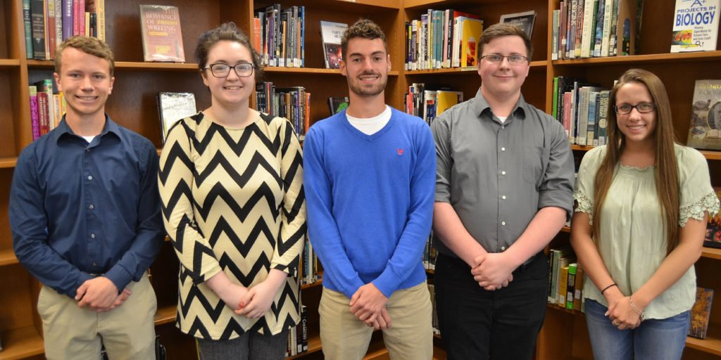 The top scholarship/award winners among the Penn Manor Class of 2017 were, from left, Malachi Lyon, Maddie Beatty, Doug Kramer, James Mintzer and Alyssa Ames.