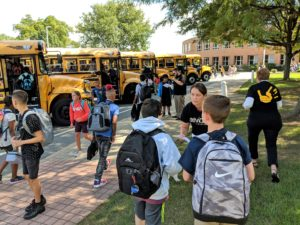 Manor MS students get help finding their buses home