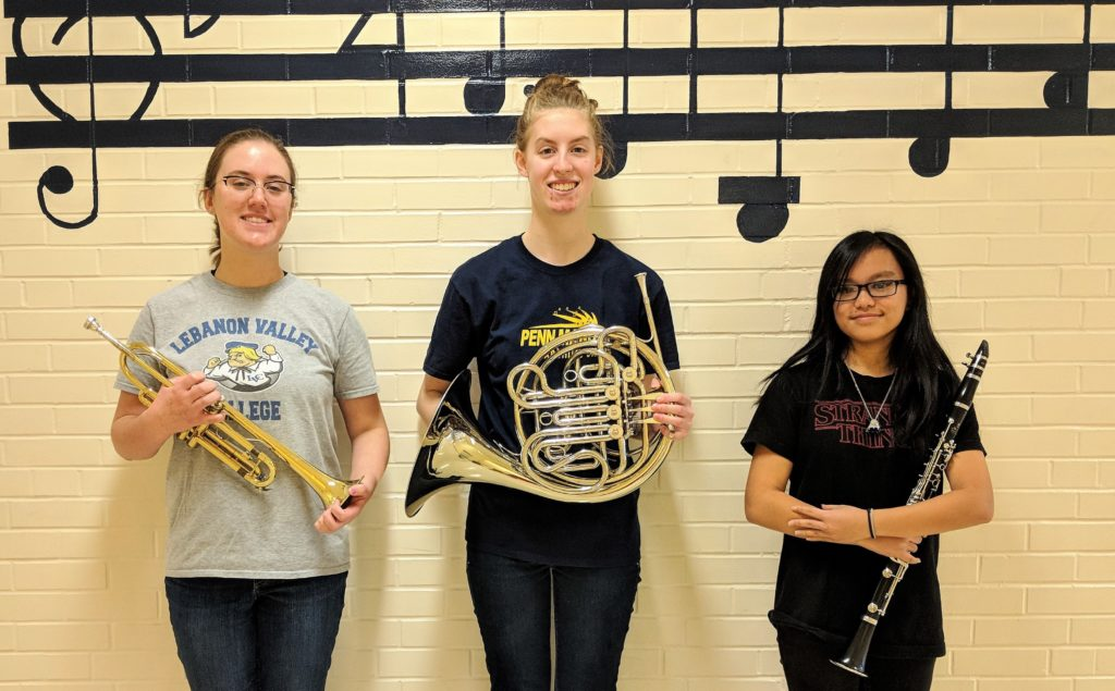 From left, Julia Young, Elise Thyrum and Hannah Stork.