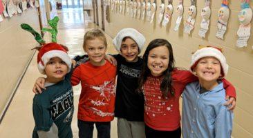 Children in holiday garb