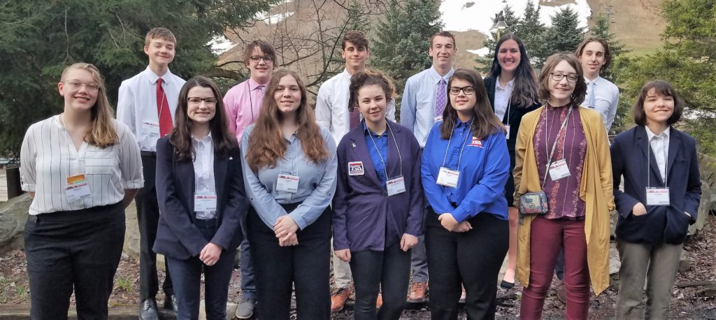 High school TSA competitors.