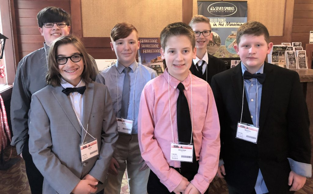 Middle school TSA competitors.