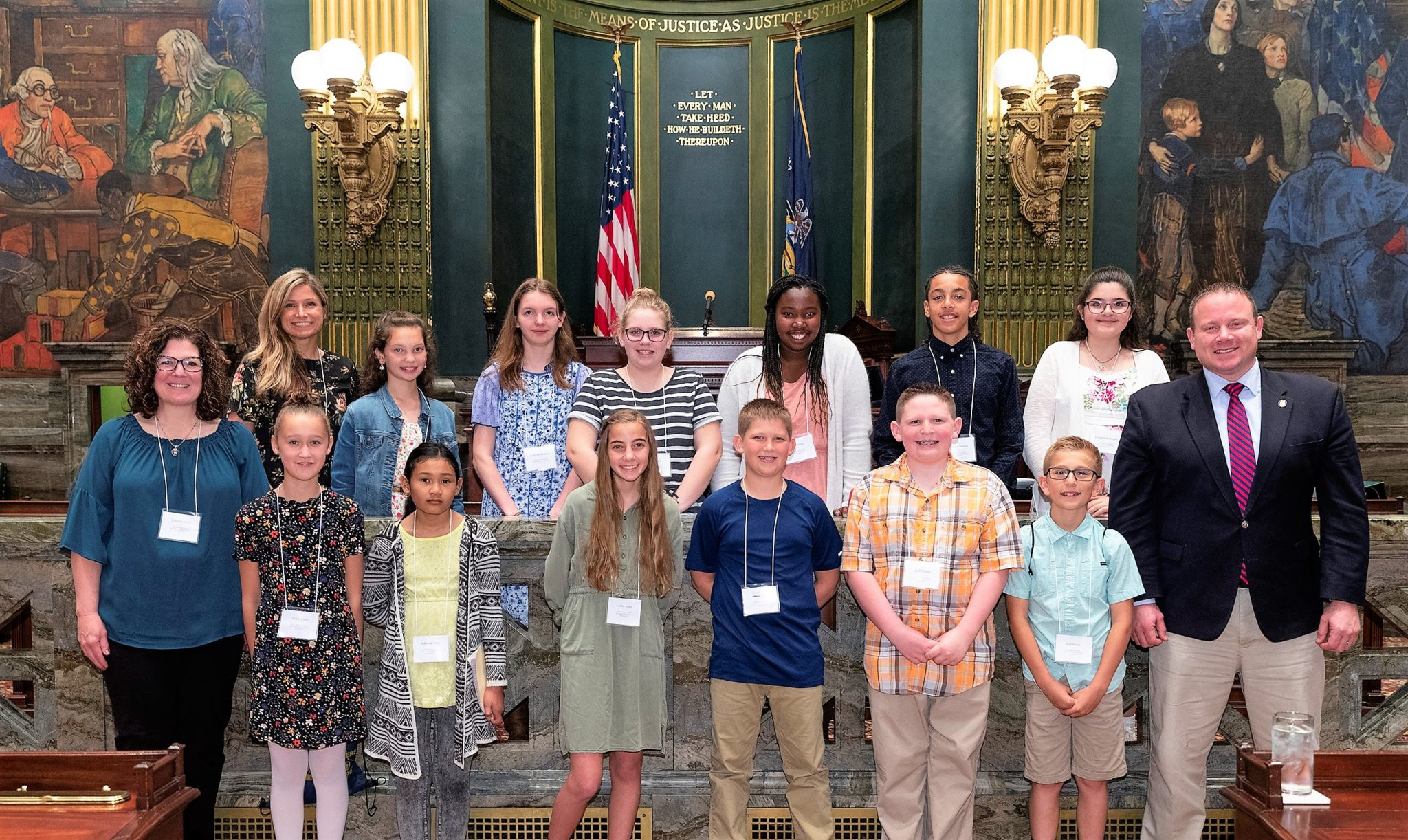 Students with Sen. Scott Martin