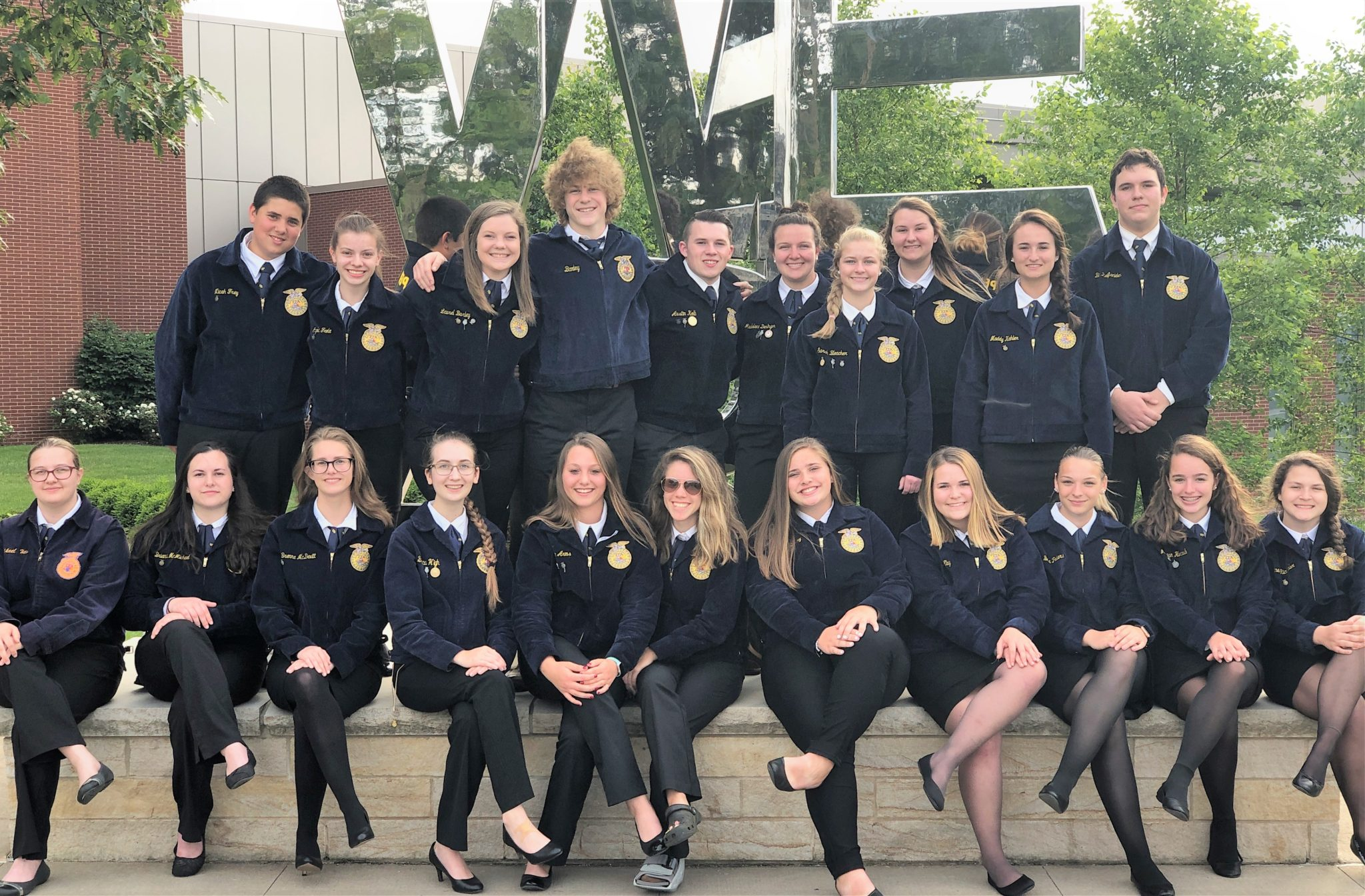 FFA members at state conference