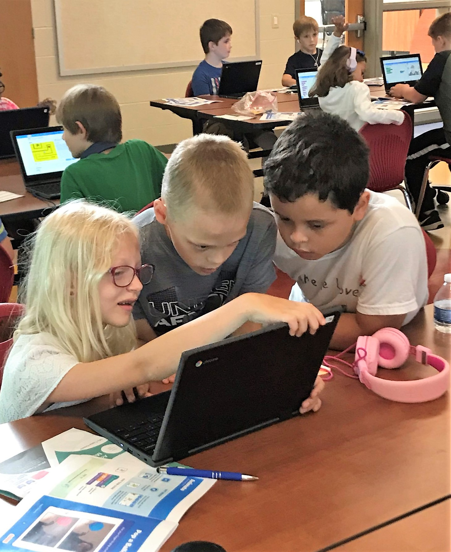 Coding Camp at Pequea Elementary.
