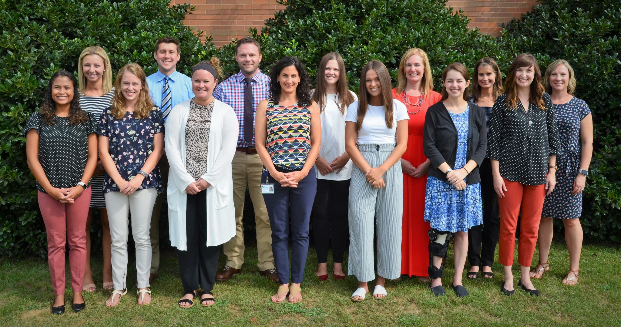 Group shot of new teachers