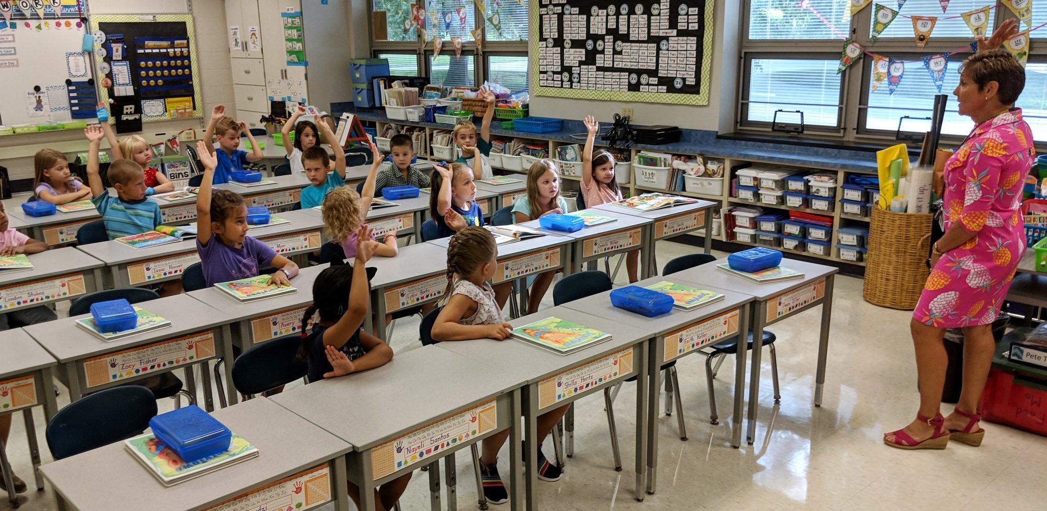 First-grade class