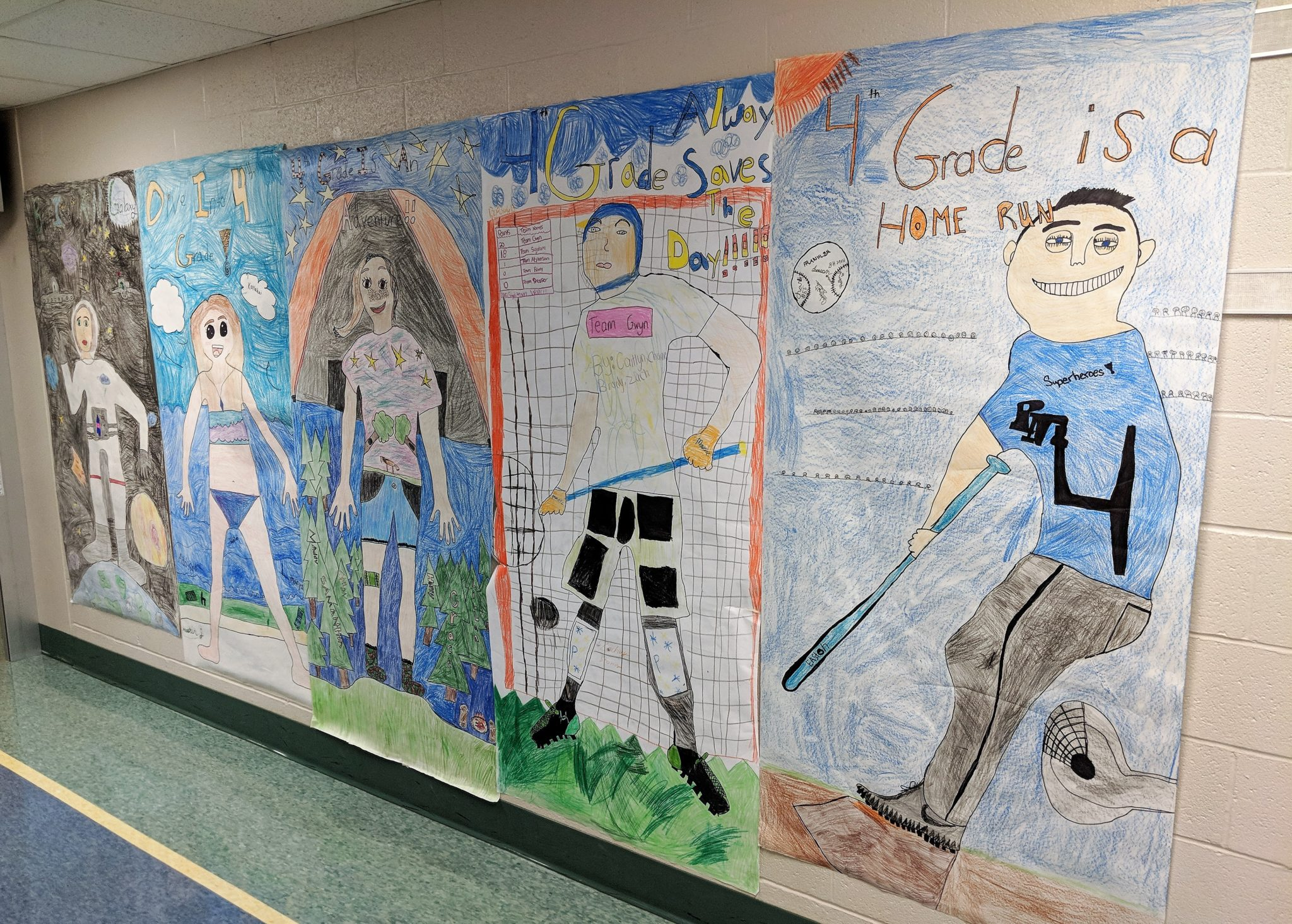 Wall posters encourage students.
