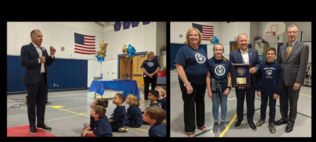 Letort Elementary recognition ceremony