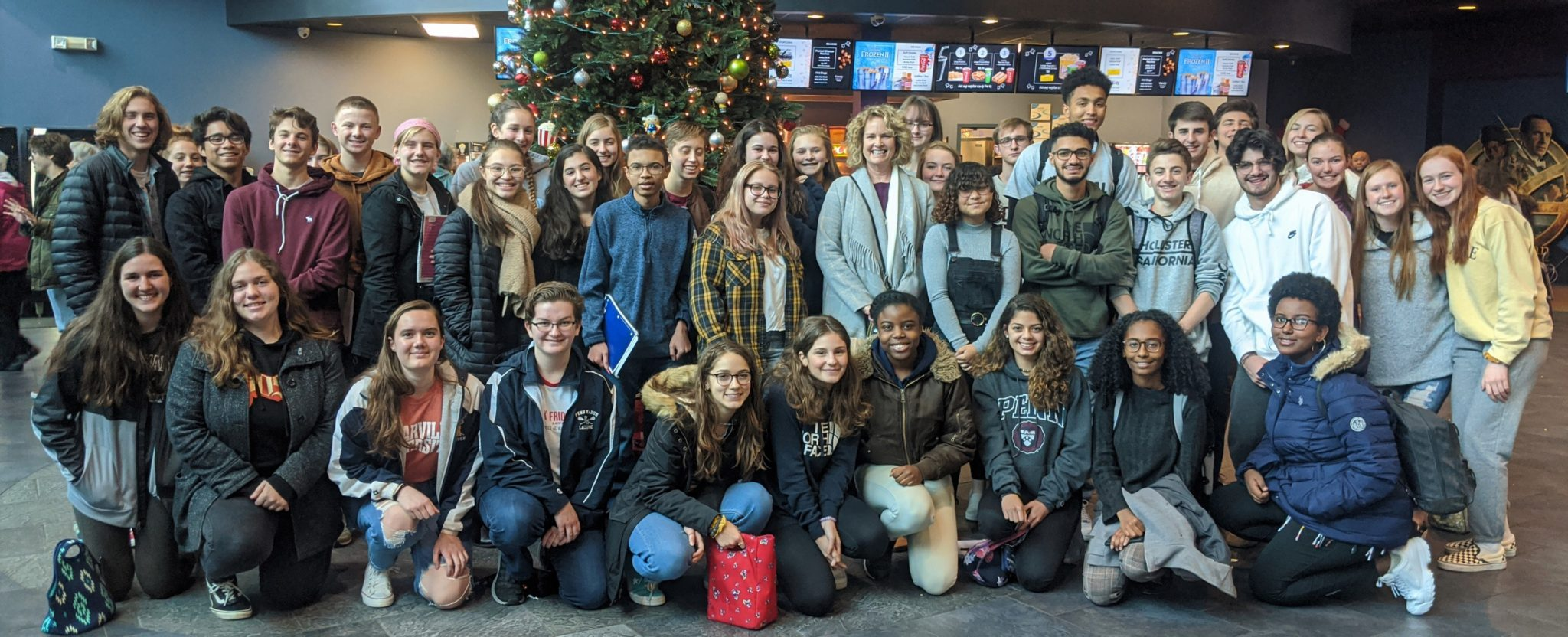 Students with Kate Clifford Larson