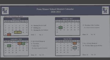 District calendar display