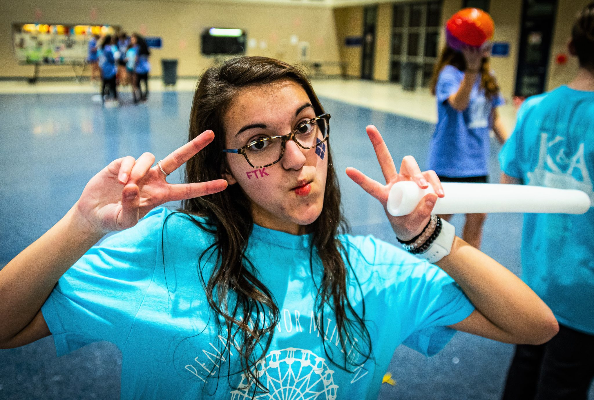 MiniTHON activities in cafeteria