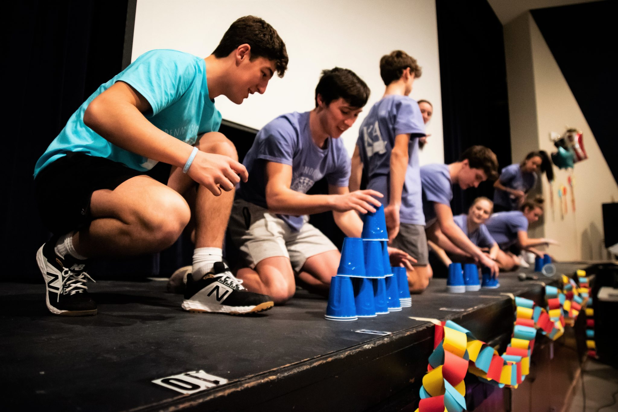 MiniTHON cup-stacking competition
