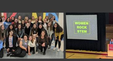 Students attending Women ROCK STEM event